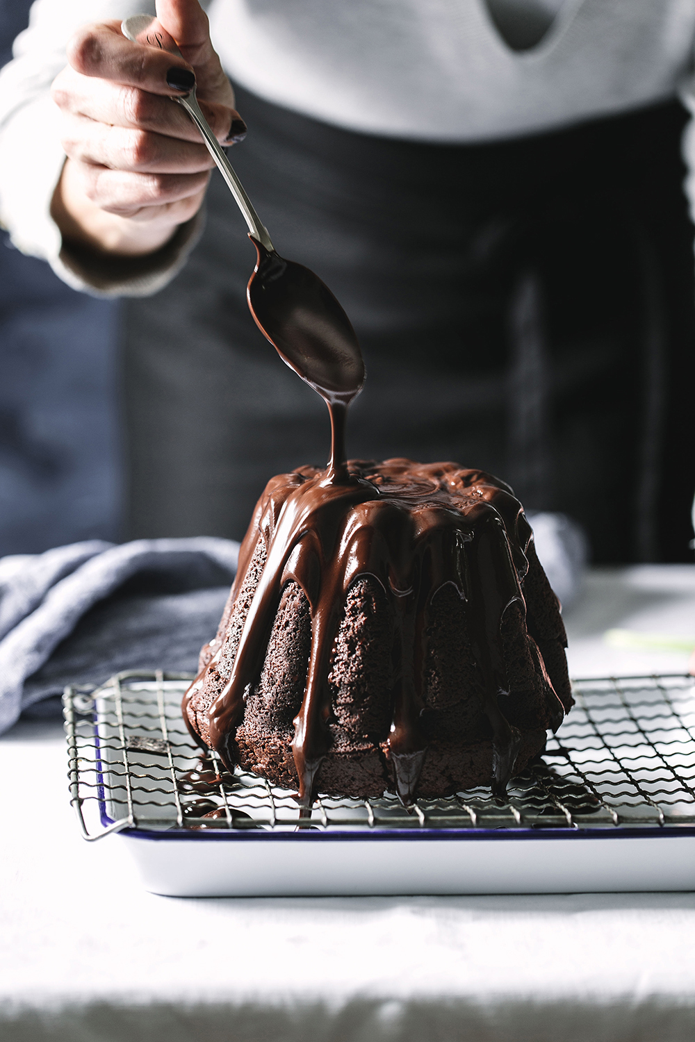 Glazed Chocolate Cake
